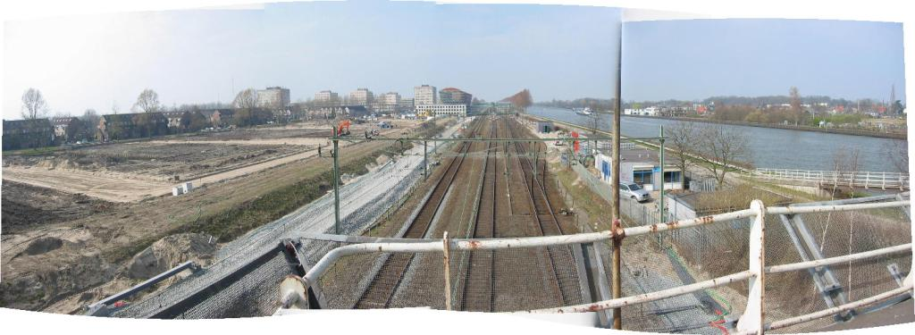 Panorama of Maarssen Station from Maarsser Brug, 2003