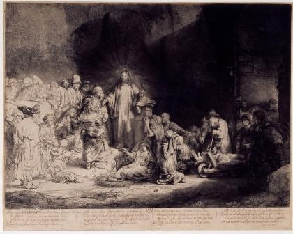 Rembrandt, The hundred-guilder print, ca. 1649. Paris, Bibliothèque Nationale de France