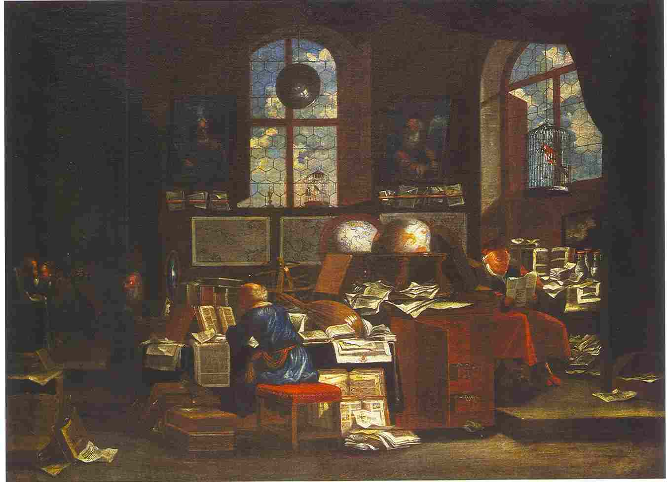 Johan Michael Bretschneider, In the scholars' study, Wroclaw
