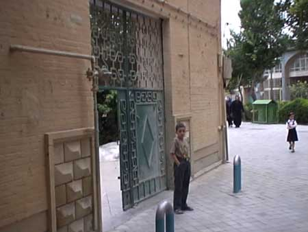 Isfahan, gate of synagogue on Felestin Square